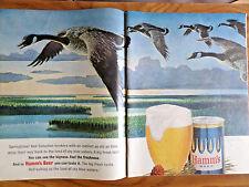 1964 Hamm's Beer Ad Springtime Canadian Honkers Land of sky blue Waters