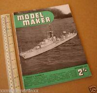 Model Maker Retro Hobby Mag RTP Cars, Boats, Yachts, Railways. Sept 1953 Vintage