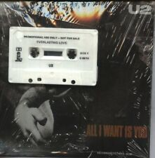 """U2   Rare Sealed 1989 Oz Promo Only 7"""" OOP L/Edit P/C Single + Tape """"All I Want"""""""