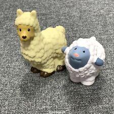 2x Fisher Price Little People Billy Goat & Sheep Nativity Farm Animal toy dolls