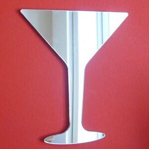 Martini Glass Mirrors Acrylic Mirror (Several Sizes Available)