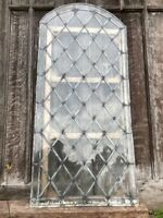 1 Antique Reclaimed Architectural Gothic Style Arched Leaded Glass Shaped Window