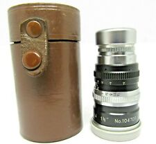 Rare Sun opt made japan  f/1.9 cine lens  1 1/2 inch telephoto  38mm f = 1.9 d