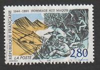 TIMBRE 1994 HOMMAGE AUX MAQUIS TIMBRE OBLITÉRÉ CACHET ROND