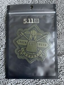 NEW 5.11 Tactical Train With Purpose Hook Back Morale Patch 81973GRN
