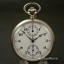Alpina orologio da tasca cronografo con Minerva 19/9 - 9 ch-NOS-circa 1938