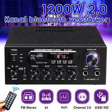 1200W HiFi Verstärker bluetooth Stereo Audio Amplifier Musik MP3 USB FM 2x MIC