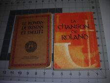 La Chanson de Roland/Le Roman de Tristan et Iseut FRENCH PB 1962 Joseph Bedier