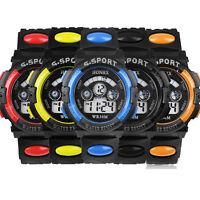 Boy's Kids Digital LED Waterproof Quartz Stopwatch Date Alarm Sports Wrist Watch