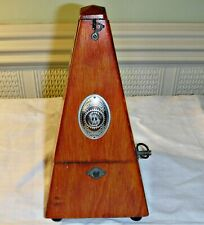 More details for antique metronome system maelzel germany stained wood case working all there