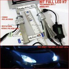 KIT Lampade LED H7 SMART FORTWO 451 brabus tuning 6500K fari CANBUS accessori