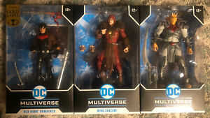 McFarlane DC Multiverse THE DEMON KING SHAZAM & Red Hood Unmasked Gold Label