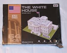 """Worlds Great Architecture 3D Puzzle """"The White House"""" 64 Pieces, Box Damaged"""