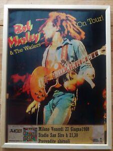 Bob Marley Locandina Concerto Live in Milan 1980