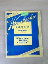 Vintage Waukesha Engine Parts List Manual For Engine Model 6m2a