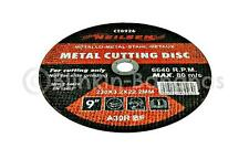 "9"" 230MM ANGLE GRINDER DISC METAL STEEL CUTTING BLADE GRINDING THIN CUTTER 23B"