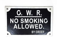 Vintage Style Cast Iron Great Western Railway No Smoking Allowed Sign Plaque