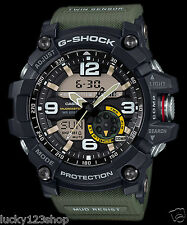 GG-1000-1A3 Green Men's Compass Casio G-Shock Analog Digital MASTER G MUDMASTER