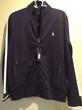 NWT RALPH LAUREN POLO PERFORMANCE STYLE ZIP SWEAT/WARMUP/TRACK JACKET BLUE L