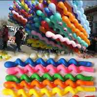 50/10x Latex Rubber Helium Spiral Balloons Party Wedding Birthday Valentines