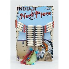Deluxe Indian Bead Necklace - Native American Fancy Dress Costume New