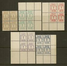 PALESTINE 1923 POSTAGE DUE SGD1/5 MNH BLOCKS OF 4