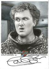 Blakes 7 Series 2 Sketch Auto Card by J D Seeber of Bayban / Colin Baker