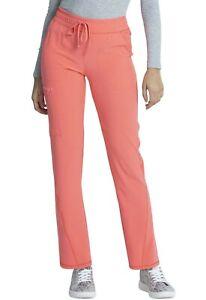 "Allura Scrubs Style #184 Elastic Drawcord Scrub Pant in ""Coral Rush"", Size L"