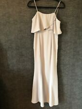 WORN ONCE - JARLO GREY LONG EVENING DRESS - 8 PETITE