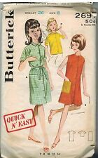 2691 Vintage Butterick Sewing Pattern Girls Dress Beachdress Blouse Shift 8 Easy