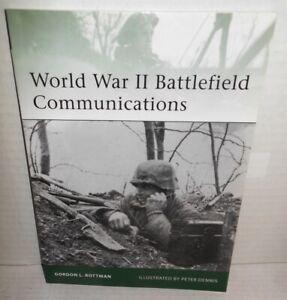 BOOK OSPREY Elite #181 World War II Battlefield Communications op 2010 1st Ed