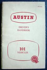 AUSTIN 101 VEHICLES - Handbook - Oct 1960 - #97H1541D