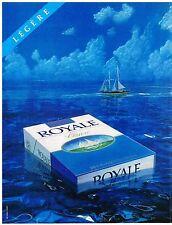 PUBLICITE ADVERTISING 054 1981  ROYALE   cigarette légère