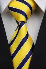 Green White Black Yellow Red New Stripe Striped Classic Silk Men's Tie Necktie C