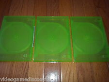 Lot of 3 Xbox 360 2 Disc Genuine Microsoft OEM Replacement Game Case CD DVD Box