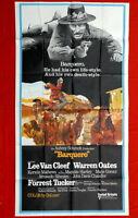 BARQUERO LEE VAN CLEEF WESTERN 3SH 1970 WARREN OATES USA VINTAGE MOVIE POSTER
