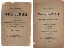 LOT 2 LIVRES EN OCCITAN LOUIS ROUQUIER 1926 CONTES A L'ALHOLI + MADAMO CARPIGNOL