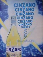 PUBLICITÉ CINZANO BLANC BLANC PRODUIT A BASE DE VIN QUALITE CDC - BERGUGLIAN