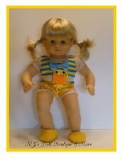 Yellow Duck Swimsuit fits Bitty Twin / Bitty Babyl Doll