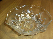 Vintaged Anchor Hocking Clear Glass Star Serving Bowl