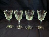 4 Waterford Lismore Claret Wine Stems, 5-7/8in, w /Labels, Excellent Cn, Ireland
