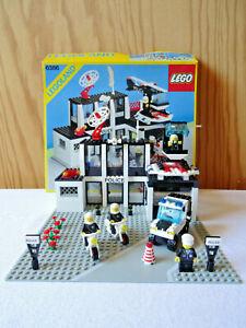 LEGO 6386 VINTAGE - POSTE POLICE / COMMAND BASE - notice + couvercle boite - TBE