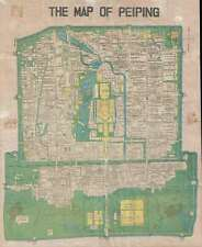 1936 Science Press City Map or Plan of Beijing / Peiping, China