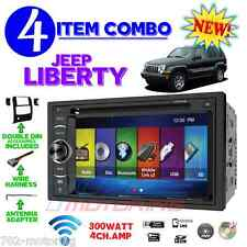 02 03 04 05 06 07 JEEP LIBERTY TOUCHSCREEN BLUETOOTH DVD CD USB CAR RADIO STEREO