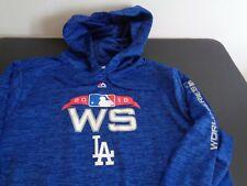 LOS ANGELES DODGERS Majestic 2018 World Series Hoodie Sweatshirt LARGE Blue MLB