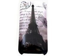Hülle f Apple iPhone 3GS 3G Schutzhülle Case Cover Tasche Paris Eiffelturm s/w