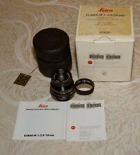 LEICA Elmar-M 50mm/f2.8 Black Lens - original owner - matching serial box MINT