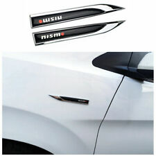 Car Decorative wing Metal Blade Fender Sticker Epoxy Resin Emblem For Nissan