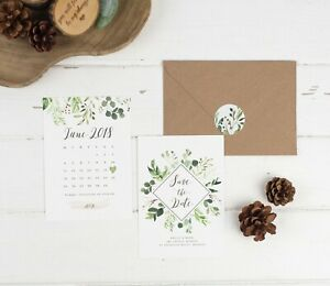 Natural Vineyard Save the Date Cards