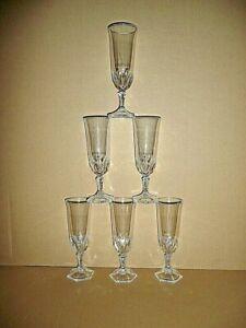 6 FLÛTES a Champagne 15 cl , modèle CHAUMONT en cristal d'arques   lot série